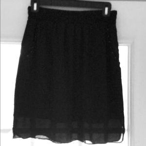Black Mossimo Skirt with Front Pockets
